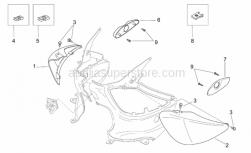 Frame - Rear Body - Undersaddle - Aprilia - RH undersaddle, var.cyan