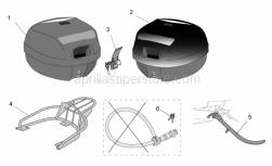 Genuine Aprilia Accessories - Acc. - Top/Cases-Various - Aprilia - Top box, embossed New-C 32L
