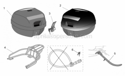 Genuine Aprilia Accessories - Acc. - Top/Cases-Various - Aprilia - Key support B.Guard I-E