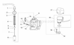 Engine - Carburettor I - Aprilia - Metering rod lock