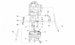 Engine - Carburettor II - Aprilia - Fuel unload screw