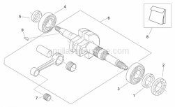 Engine - Connecting Rod Group - Aprilia - Crankshaft cpl.