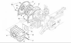 Engine - Cooling Unit - Aprilia - Cylinder air shroud