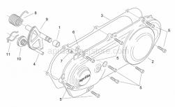 Engine - Cover - Kick Starter - Aprilia - Sliding kick-start gear