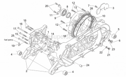 Engine - Crank-Case - Aprilia - Screw w/ flange m8x12