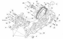 Engine - Crank-Case - Aprilia - Screw w/ flange m6x12