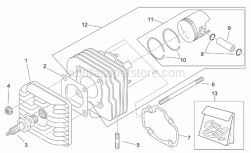 Engine - Cylinder Head - Aprilia - Stop ring