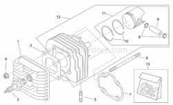 Engine - Cylinder Head - Aprilia - Piston assy d42
