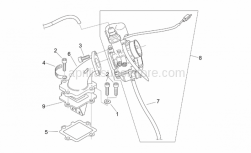 Engine - Fuel Supply - Aprilia - Reed valve assy