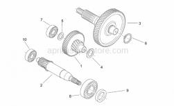 Engine - Reduction - Aprilia - Idle gear assy Z=17/51