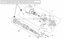 Engine - Starter Motor - Aprilia - Starter motor, Mitsuba