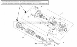 Engine - Starter Motor - Aprilia - Wiring with screw