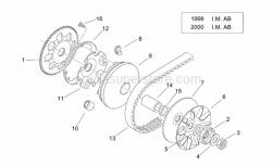 Engine - Variator I - Aprilia - Low nut m12x1,25