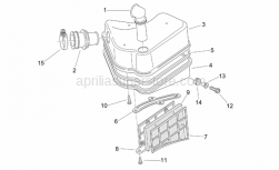 Frame - Air Box - Aprilia - Filter housing cover