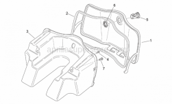 Frame - Central Body I - Aprilia - Glove comp.door, ap.black