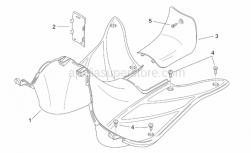 Frame - Central Body II - Aprilia - Type appr.data cover, black