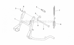 Frame - Central Stand - Aprilia - Lateral stand spring