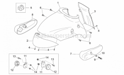 Frame - Front Body III - Aprilia - RH Connecting rod cover, chr.