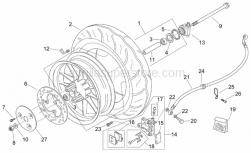 Frame - Front Wheel - Aprilia - Oil pipe screw *