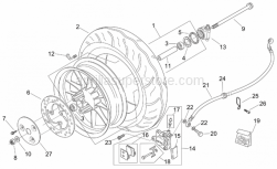 Frame - Front Wheel - Aprilia - Screw w/ flange M8x25