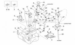 Frame - Fuel Tank - Aprilia - Screw clip D5,5*
