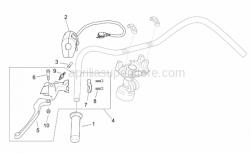 Frame - Lh Controls - Aprilia - Rear brake lever complete