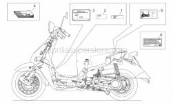 Frame - Plate Set And Handbook - Aprilia - CEE dataplate