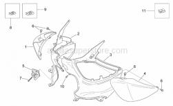 Frame - Rear Body I - Aprilia - RH undersaddle, var.cyan