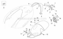 Frame - Rear Body III - Aprilia - Rear splash guard, black