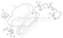 Frame - Saddle - Handle - Aprilia - Filler cup guard