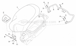Frame - Saddle - Handle - Aprilia - Hex socket screw