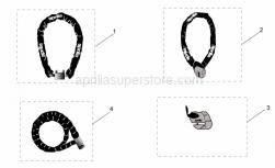 Genuine Aprilia Accessories - Acc. - Mechanics Anti-Theft - Aprilia - Iron Guard 10x150 mm