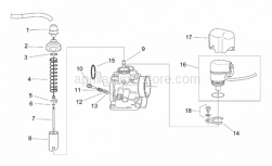 Engine - Carburettor I - Aprilia - Choke valve