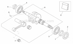 Engine - Connecting Rod Group - Aprilia - Oil seals - set