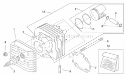 Engine - Cylinder Head - Aprilia - Piston ring set d42