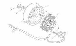 Engine - Flywheel - Aprilia - screw