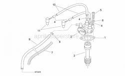 Engine - Oil Pump - Aprilia - Oil pipe