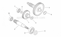 Engine - Reduction - Aprilia - Drive shaft assy Z=64