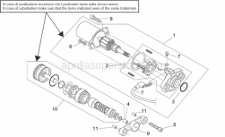 Engine - Starter Motor - Aprilia - Bendix support