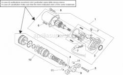 Engine - Starter Motor - Aprilia - Bendix support