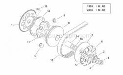 Engine - Variator I ('99-2001 I.M. Ab) - Aprilia - Vee-Belt