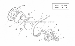 Engine - Variator Ii ('99-2001 I.M. C) - Aprilia - Pulley assy., driving