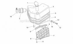 Frame - Air Box - Aprilia - Gauze strainer cover