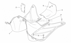 Frame - Central Body Ii - Aprilia - Type appr.data cover, red