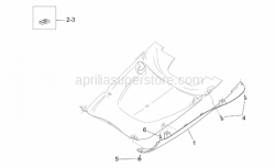 Frame - Central Body Iv - Aprilia - LH side panel, cyan