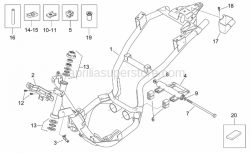 Frame - Frame - Aprilia - Engine connecting element