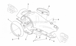 Frame - Front Body I - Aprilia - Dashboard ring nut, chr.