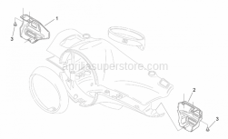 Frame - Front Body Ii - Aprilia - RH el.controls place, blue