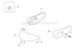 Frame - Front Body Vi - Aprilia - Plastic rivet