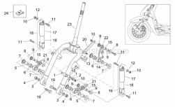 Frame - Front Shock Absorber - Aprilia - Lower shock absorber cover